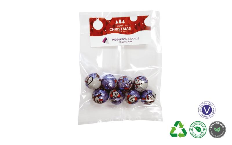 Bag of Christmas Chocolate Baubles