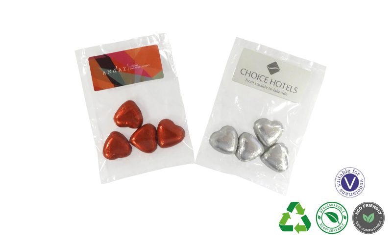 Bags of Chocolate Hearts