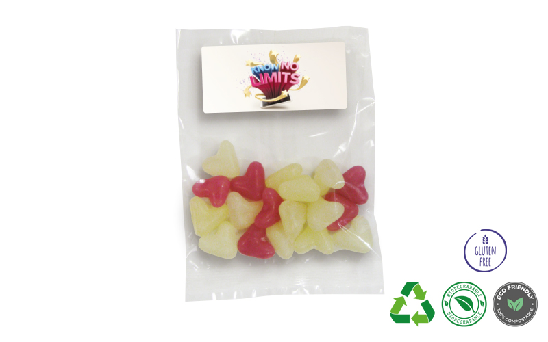 Bag of Heart Shaped Jelly Beans