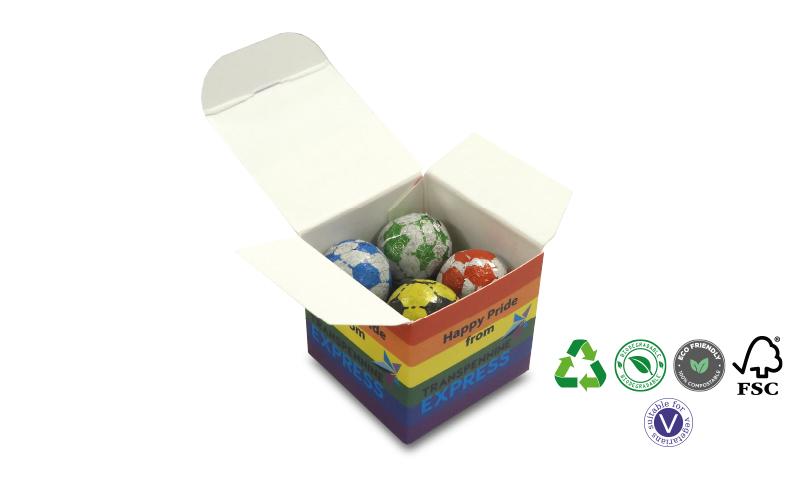 Cube Box of Footballs