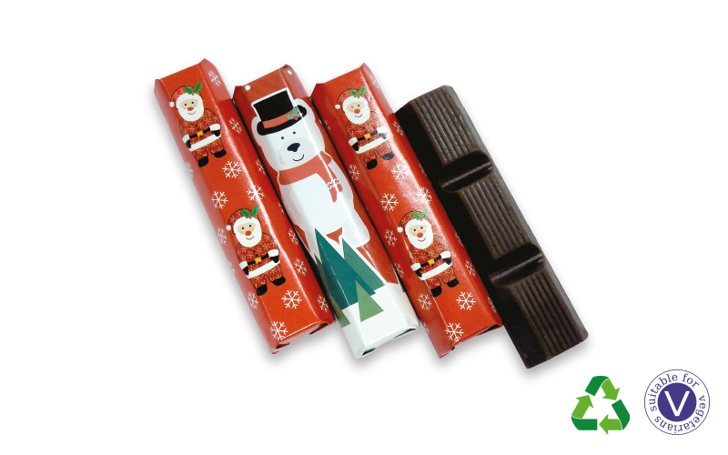 Festive Mini Chocolate Bars