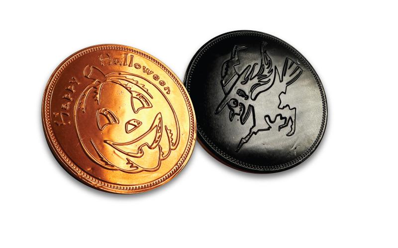 Large Halloween Chocolate Coins