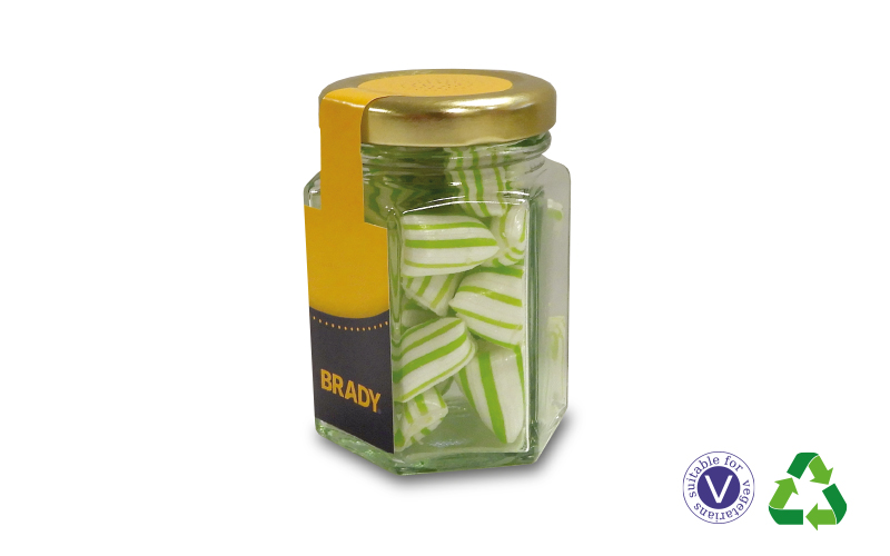 Colour Matched Humbugs – Small Hex Jar