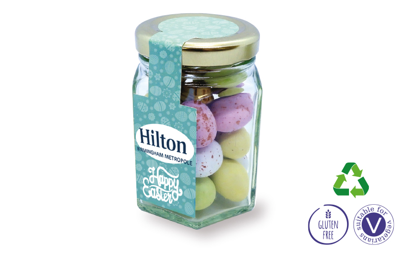 Small Hex Jar – Easter